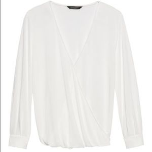 2 x Banana Republic Sandwash Modal Wrap Top - SP